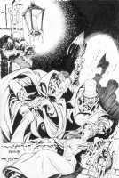 Dracula & Jack the Ripper Cover by Mike Ploog ($2495) Comic Art