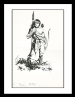 Warrior by Jeff Jones & Bernie Wrightson (SOLD) Comic Art
