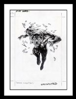 Werewolf Hologram by Wrightson pt. 3 (SOLD) Comic Art