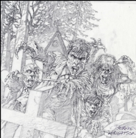 Bernie Wrightson Original Zombies Art (SOLD) Comic Art