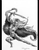 Full Cirkle II (2nd series) #2 Cover by Boris Vallejo (SOLD) Comic Art