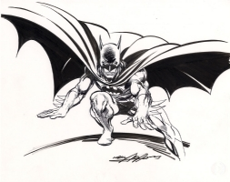 Classic Batman Drawing by Neal Adams (SOLD) Comic Art