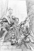 Dracula & Jack the Ripper Prelim 2 by Mike Ploog (SOLD) Comic Art