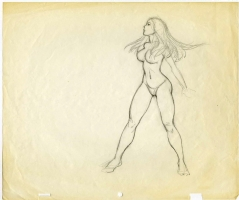 Frank Frazetta (attributed) - Fire and Ice Animation Drawing Original Art (circa 1983) SOLD Comic Art
