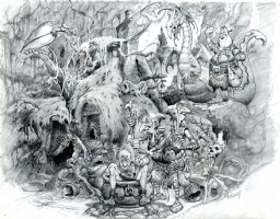 Original Fantasy Movie Witches Concept Art Design by Mike Ploog (SOLD) Comic Art