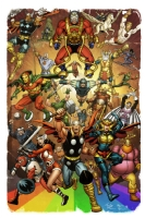 Asgardian and Fourth World Heroes by Brendon & Brian Fraim and Simon Gough Comic Art