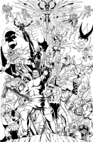 Asgardian and Fourth World Villains by Brendon & Brian Fraim Comic Art