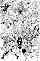 Asgardian and Fourth World Heroes by Brendon & Brian Fraim Comic Art