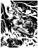 Thor vs. Kalibak by Ron Salas Comic Art