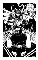 Odin vs. Darkseid by Chuck BB Comic Art