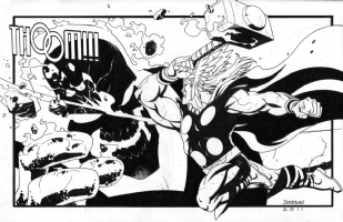 Brimstone vs. Thor by Derec Donovan Comic Art