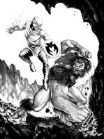 Forager vs. Ulik by Mike Rooth Comic Art
