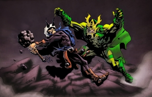 Hogun vs. Mantis by Phil Hester & Simon Gough Comic Art