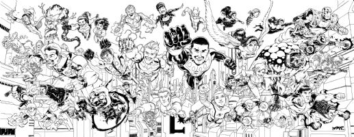 The Legion of Super-Heroes by Nate Stockman Comic Art