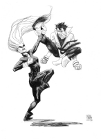 Karate Kid vs. Black Widow by Jesse Hamm Comic Art