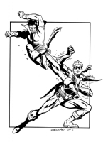 Karate Kid vs. Connor Hawke by Derec Donovan Comic Art