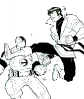 Karate Kid vs. Atomic Robo by Scott Wegener Comic Art