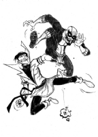 Karate Kid vs. Batroc the Leaper by Drew Rausch Comic Art