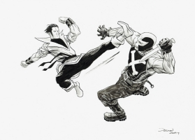 Karate Kid vs. Crossbones by Declan Shalvey Comic Art