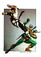 Karate Kid vs. Connor Hawke by Derec Donovan & Simon Gough Comic Art
