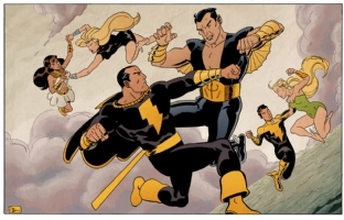 Black Adam vs. Namor by Evan Shaner Comic Art