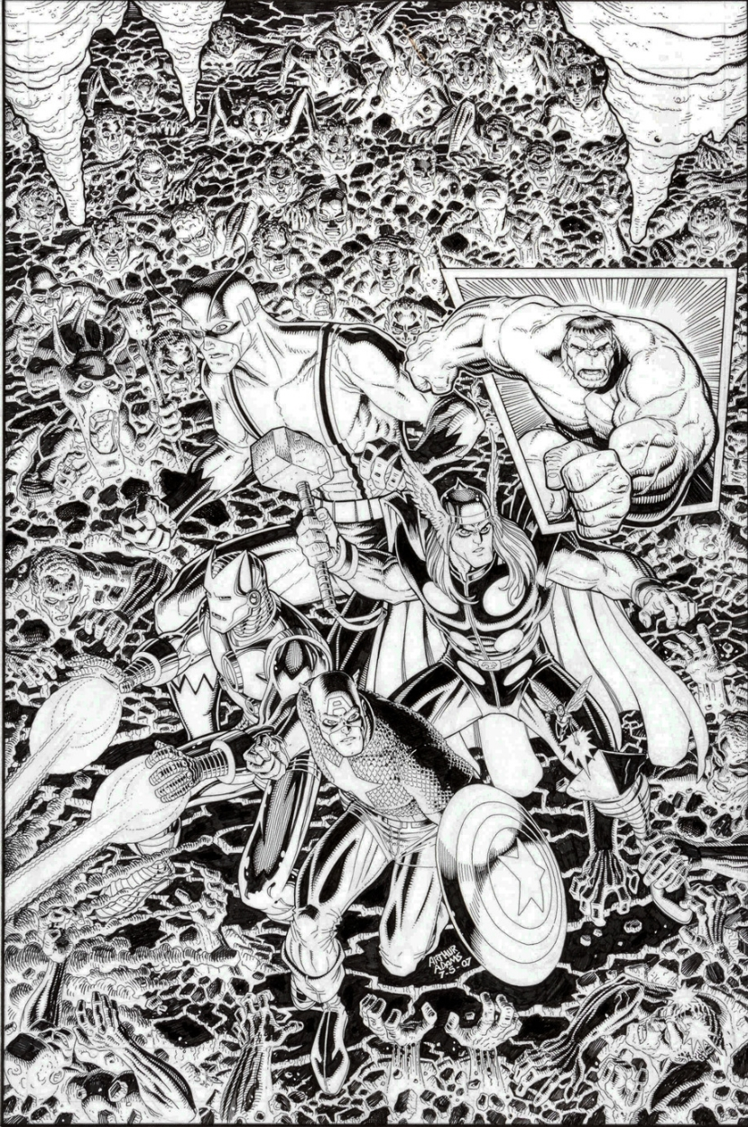 Avengers Classic #5 Comic Art