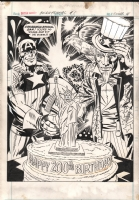 Captain America's Bicentennial Battles back cover Comic Art