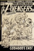Avengers 97 Cover Comic Art