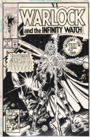 Warlock & the Infinity Watch #1 Cover Comic Art