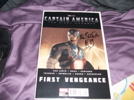 Captain America First Vengeance Remarked by Allen Bellman Comic Art