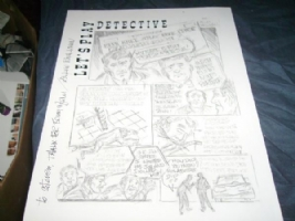 Lets Play Detective page by Allen Bellman Comic Art