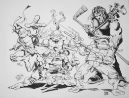 Teenage Mutant Ninja Turtles TMNT - Free Comic Book Day 2009 original Comic Art