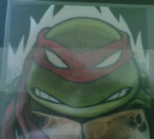 Ninja Turtle Raph Comic Art