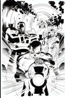 GREEN LANTERN v-cover GL and New Gods #1, Comic Art