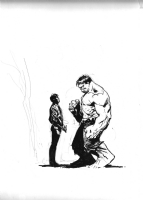 Hulk / Rick Jones drawing , Comic Art