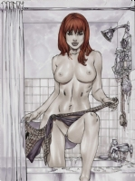 Mary Jane in the shower NAKED and a lil wet..heh Comic Art