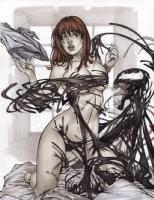 maryJane watson NAKED Comic Art