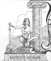 The Harry Roland Triptych Wonderwoman Comic Art