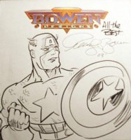 Captain American by Randy Bowen Comic Art