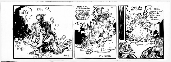Barbarella, Le Semble-Lune, strip no. 65 - 1976 Comic Art