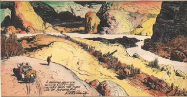 Caniff Terry Marching Army 1938 Comic Art