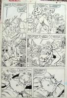 Thundercats Issue 9, page 10  Cheetara and Snarf Comic Art