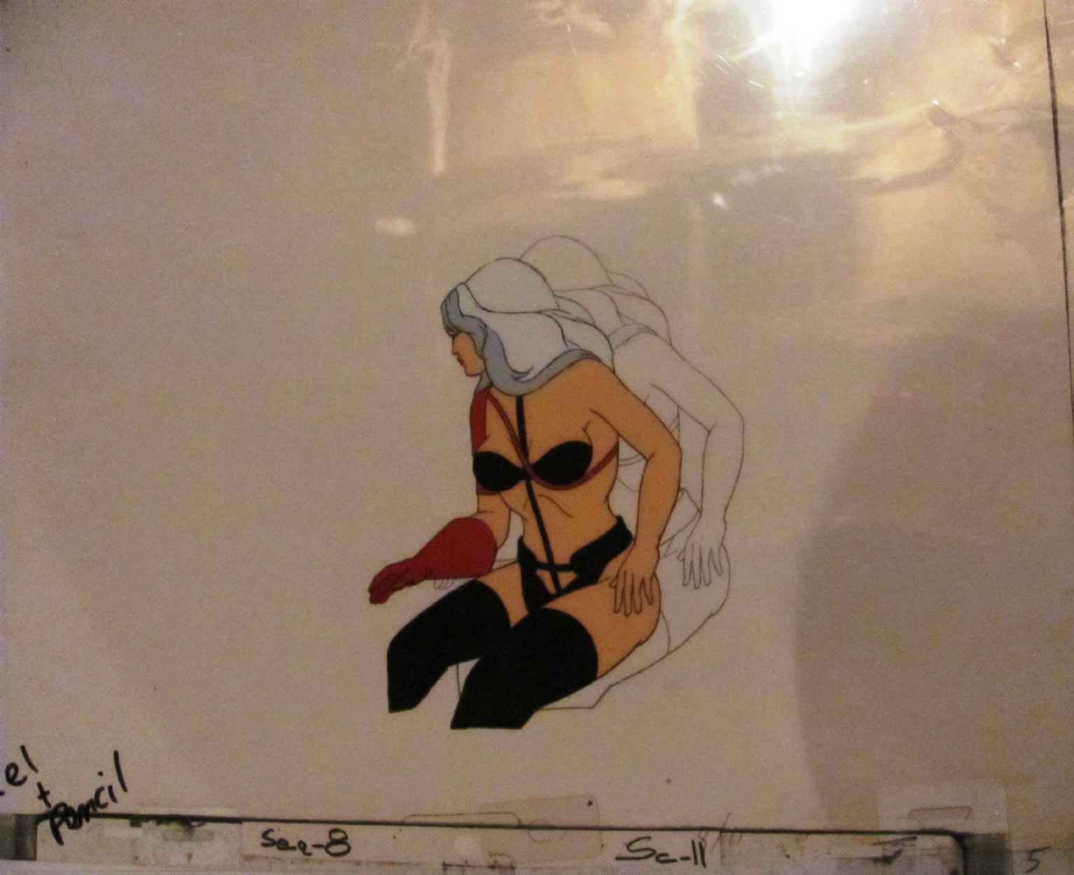 Taarna Heavy Metal  Matching paint cel and drawing cel of Taarna Comic Art