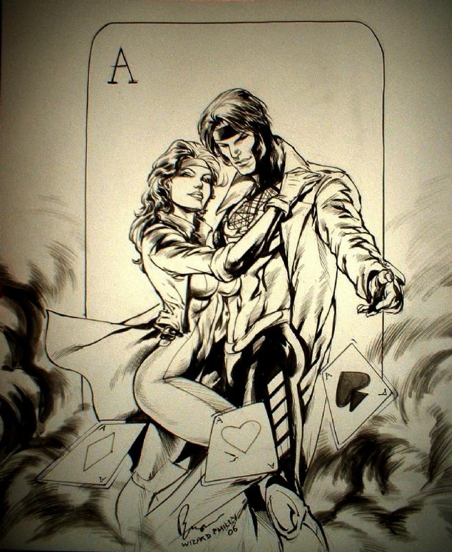 Gambit Comic Art Gambit & rogue by buzz comic