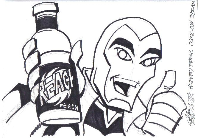 Reach Ambassador (Young Justice) by John Trumbull (Asbury Park Comicon 2013) Comic Art