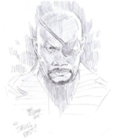 Nick Fury by Wes St. Claire (Asbury Park Comicon 2014), Comic Art