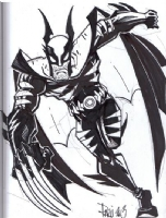 Dark Claw (Amalgam Comics) by Paris Cullins (Superheroes For Hospice, November 9, 2013), Comic Art