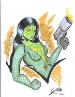 Gamora by Joe Endres (Superheroes For Hospice Show, November 8, 2014), Comic Art