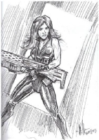 Gamora (Guardians of the Galaxy) by Steve Becker (Comic Book Jones Seventh Anniversary 2014), Comic Art