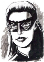 Anne Hathaway as Catwoman (The Dark Knight Rises) by Guy Dorian (Big Apple Con 2015), Comic Art
